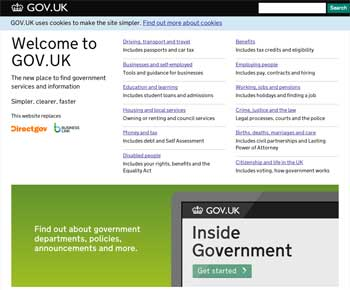 UK Government site